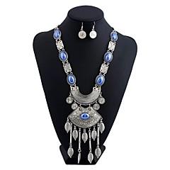 Women's Earrings Set Necklace/Earrings Basic Tassels Ferroalloy Polyresin Rhinestone Geometric Irregular ForGift Sports Date Club Baby