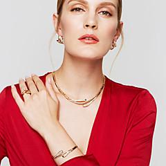 Zestawy biżuterii Kolczyk Bransoletka Pierscionek Klasyczny Unikalny Modny Europejski minimalistyczny styl Kryształ górski StopCircle