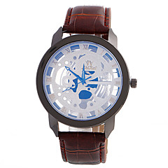 Fashion Casual Unique Luxury Leather Band Watches Men Quartz Wristwatches Relogio Masculino Clock Cool Watch