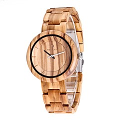 REDEAR®Men's Wood Watch Japanese Quartz Wooden Wood Band Luxury Elegant Brown Beige