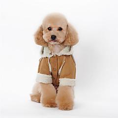 Hund Hættetrøjer Hundetøj Afslappet/Hverdag Britisk Kaffe Brun Rød Blå Lys pink