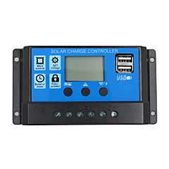 24v 12v auto zonnepaneel batterij oplader controller 20a pwm lcd display zonnecollector regulator met dual usb uitgang