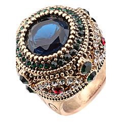 Dame Statement-ringe Ring Krystal Enkelt design Unikt design Rhinsten Mode Vintage Boheme Stil Personaliseret Euro-Amerikansk Tyrkisk