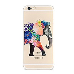 Para iPhone X iPhone 8 Case Tampa Transparente Estampada Capa Traseira Capinha Elefante Macia PUT para Apple iPhone X iPhone 8 Plus