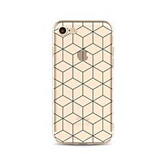 Etui til iphone 7 plus 7 cover gennemsigtigt mønster bagcover case geometrisk mønster soft tpu til iphone 6s plus 6 plus 6s 6 se 5s 5c 5