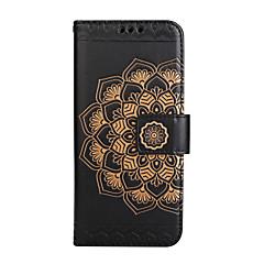 suojakotelo Samsung Galaxy S8 plus S8 lompakon läppä kohokuvio kokovartalo tapauksessa Mandala kukka kova PU nahka Samsung S7 S7 reuna S6