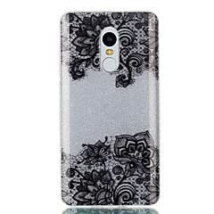 Voor Hoesje cover IMD Achterkantje hoesje Lace Printing Glitterglans Hard TPU voor XiaomiXiaomi Redmi Note 4X Xiaomi Redmi 4a Xiaomi