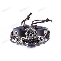 Męskie Bransoletki ze skóry Biżuteria Postarzane biżuteria kostiumowa Skóra Skull shape Biżuteria Na Na co dzień