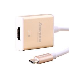Type-C HDMI 2K * 4K Wysoka prędkość Kable Na MacBook Huawei Xiaomi cm Aluminium