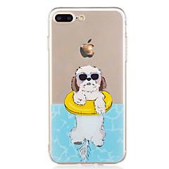 Voor iphone 7plus 7 telefoon hoesje tpu materiaal puppy patroon geverfde telefoon hoesje 6s plus 6plus 6s 6 zie 5s 5