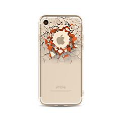 Kotelo iphone 7 plus 7 kattaa läpinäkyvä kuvio takakannen tapauksessa 3d sarjakuva seinä pehmeä tpu apple iphone 6s plus 6 plus 6s 6 se 5s