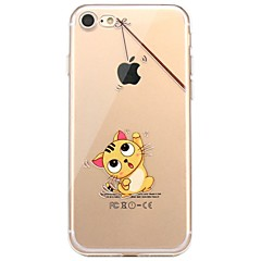 Para iPhone X iPhone 8 Case Tampa Estampada Capa Traseira Capinha Brincadeira Com Logo da Apple Gato Macia PUT para Apple iPhone X iPhone