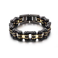 Heren Armbanden met ketting en sluiting Modieus PERSGepersonaliseerd Hip-hop Roestvast staal Geometrische vorm Fietsen Sieraden VoorFeest