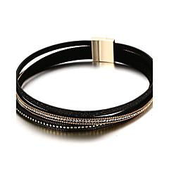 Women's Choker Necklaces Rhinestone PU Fashion Casual Bracelets Female Bangle Punk Statement Jewelry