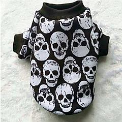 Hond Jassen Sweatshirt Hondenkleding Casual/Dagelijks Doodskoppen Zwart/Wit
