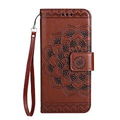 Θήκη για huawei p10 lite κάλυψη κατόχου καρτών πορτοφόλι flip ανάγλυφο σχέδιο πλήρες σώμα μανταλάκι λουλούδι σκληρό pu δέρμα