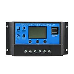 napvédelem töltő 10a kettős USB kimenet 5V mobil töltő 12 / 24V napelem feltöltéssel 10 szabályozó amper y-solar