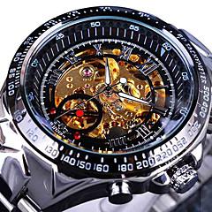 Heren Modieus horloge Polshorloge mechanische horloges Vrijetijdshorloge Chinees / Roestvrij staal Band Cool Vrijetijdsschoenen Elegante