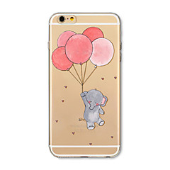 Hoesje voor iphone 7 plus 7 hoesje transparant patroon achterhoes hoesje cartoon olifantballon zachte tpu voor iphone 6s plus 6 plus 6s 6