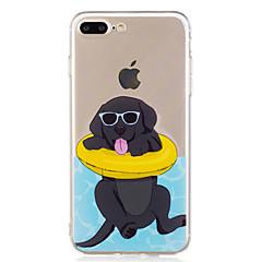 Caso per il iphone 7 più il caso del telefono del tpu del modello del cane di nuoto di estate 6 per 6s più 6plus 6s 6 se 5s 5