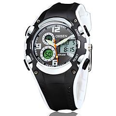 OHSEN Heren Sporthorloge Modieus horloge Horloge Hout Polshorloge Unieke creatieve horloge Vrijetijdshorloge Kwarts Digitaal LED Silicone