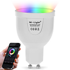 GU10 5W 2.4Ghz RGB--Warm White Stepless Dimming Wireless Remote Control Dimming Mobile Phone  Wifi Control Dimming Intelligent Bulb (AC85-265V)