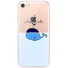 Taske til iphone 7 6 spiller med apple logo tpu animalsk blød ultra-tynd bagside cover cover iphone 7 plus 6 6s plus se 5s 5 5c 4s 4