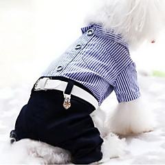 Σκύλος Φόρμες Ρούχα για σκύλους Καθημερινά Ριγέ