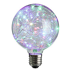 2W LED-globepærer 25 DIP LED 100-200 lm Varm hvid RGB Dekorativ V 1 stk.