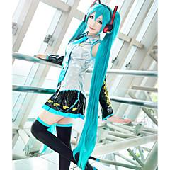 Szerepjáték Parókák Vocaloid Hatsune Miku Kék Extra hosszú / Egyenes Anime/Videójátékok Szerepjáték parókák 120 CM Hőálló rost Nő