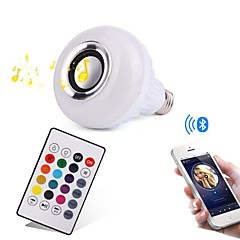 12W LED-älyvalot 28 SMD 1000 lm RGB Bluetooth Himmennettävissä Kauko-ohjattava Koristeltu AC100-240 V 1 kpl