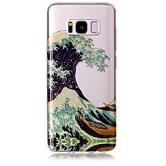 Θήκη για το Samsung Galaxy S8 s8 συν το κάλυμμα των κυμάτων πρότυπο υψηλής διαφάνειας tpu υλικό imd σκάφος σιφόν τηλέφωνο περίπτωση s6 s6