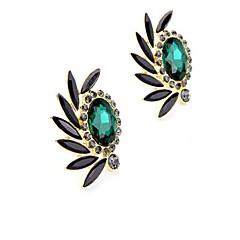 Damskie Kolczyki z klipsem Rhinestone Modny Postarzane Osobiste Ponadgabarytowych biżuteria kostiumowa Stop Oval Shape Kropla Biżuteria Na