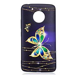 Taske til motorola g5 g5 plus dækning sommerfugl mønster bagside cover soft tpu