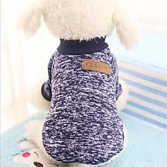 Kot Pies Bluzy Ubrania dla psów Imprezowa Codzienne Zatrzymujący ciepło Sportowe Halloween Święta Bożego Narodzenia Sylwester StałyKolor