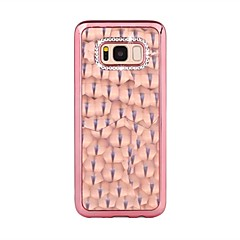Hoesje voor Samsung Galaxy S8 plus s8 strass plating achterkant solide kleur zachte tpu s7 rand s7 s6 rand s6 s5 mini s5 s4 mini s4