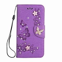 Taske til Sony Xperia l1 xa1 ultra wallet rhinestone præget sommerfugl pu læder taske til Sony xa1 e5 xz xz xa ultre x kompakt xz premium