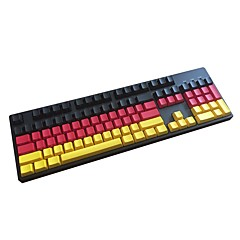 Duitse teamzijde prited pbt keycap 104 toetsen ingesteld voor mechanisch toetsenbord