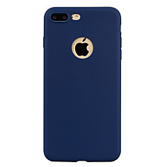 Til iPhone X iPhone 8 Etuier Gennemsigtig Bagcover Etui Helfarve Blødt TPU for Apple iPhone X iPhone 8 Plus iPhone 8 iPhone 7 Plus iPhone