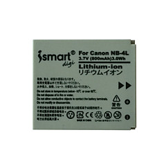 Ismartdigi 4l 3.7v 800mah kamera akkumulátor Canon ixus 230 220 115hs 130 120 110 100