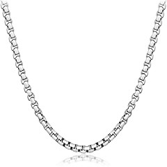 Heren Dames Choker kettingen Sieraden Geometrische vorm Sterling zilver Natuur Elegant Luxe Sieraden Chrismas Klassiek Sieraden Voor