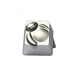 Doorschijnende metalen sleutelhanger Esc keybit super wit r4 hoog bovenkant afgedrukt