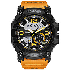 Męskie Sportowy Modny Zegarek cyfrowy Zegarek na nadgarstek Cyfrowe LED Wodoszczelny Dwie strefy czasowe alarm Guma Pasmokamuflaż