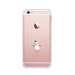 Na iPhone X iPhone 8 Etui Pokrowce Przezroczyste Wzór Etui na tył Kılıf Święta Bożego Narodzenia Miękkie Poliuretan termoplastyczny na