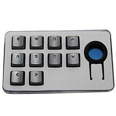 Sangee keycap transparant karakter 10 toetsen keycap set voor mechanisch toetsenbord zilver