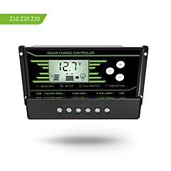Pwm 30a napelemes töltésvezérlő 12v 24v automatikus háttérvilágítással lcd kijelző kettős usb 5v szolár szabályozó töltő z30