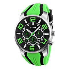SKMEI Heren Sporthorloge Dress horloge Modieus horloge Japans Kwarts Digitaal Kalender Waterbestendig Stopwatch Rubber BandCool