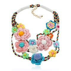 Γυναικεία Κολιέ Δήλωση Κοσμήματα Circle Shape Βαμβακοφανέλλα ΚράμαΧιπ-Χοπ χαριτωμένο στυλ κοσμήματα πολυτελείας Κοσμήματα με στυλ