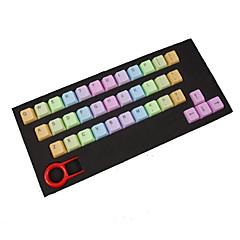 Abs 37 toetsenverlichting regenboog keycaps paars voor mechanisch toetsenbord