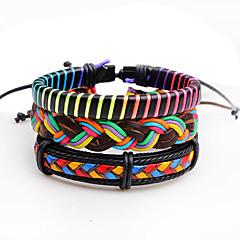 Heren Wikkelarmbanden Lederen armbanden Basisontwerp Natuur Meetkundig Elegant Modieus Vintage Punk-stijl Kruis PERSGepersonaliseerd